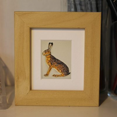 Mini print, mounted and framed
