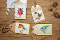 gift tag birds