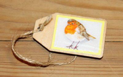 gift tag robin